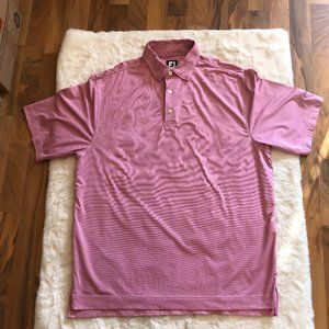 Footjoy striped golf polo short sleeve top size large